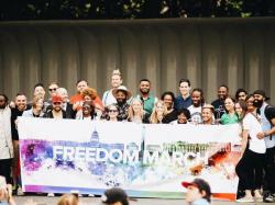 People who attended the Saturday march organized by Angel Colon and Luis Javier Ruiz and the Florida Policy Council. (photo: Florida Policy Council/Facebook)