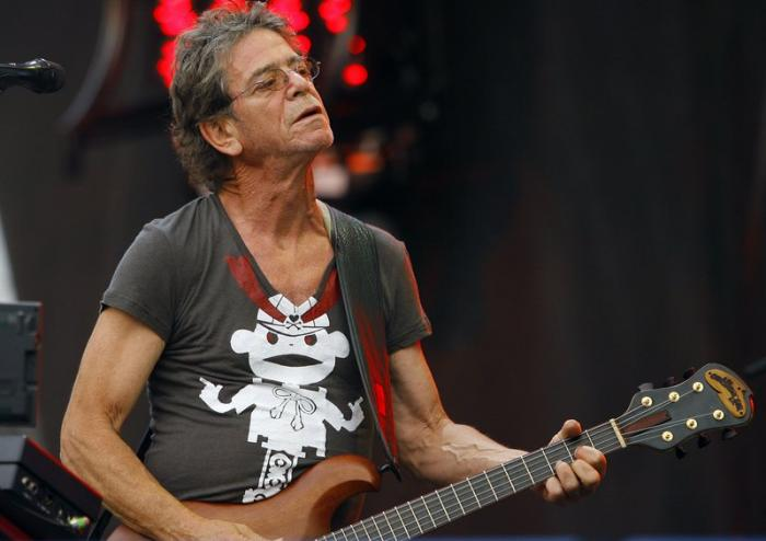 Lou Reed performing at Lollapalooza in 2009