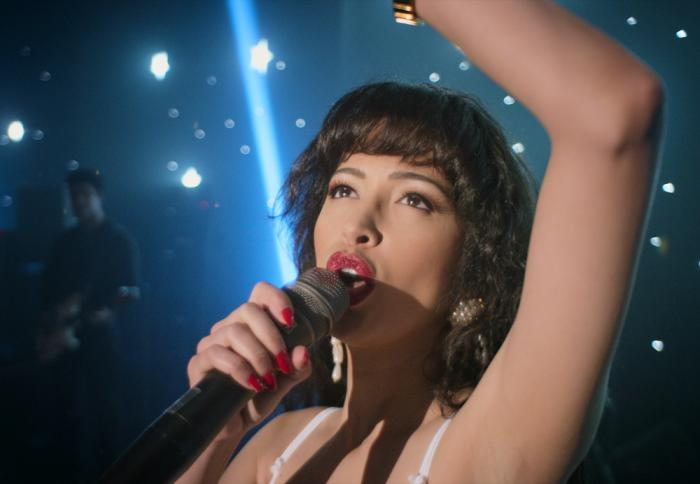 "Christian Serratos in ""Selena: The Series."""