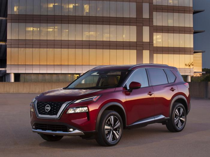 This photo provided by Nissan shows the 2021 Nissan Rogue, the newest version of Nissan's popular compact SUV