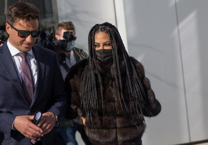 """""""The Real Housewives of Salt Lake City"""" star Jen Shah leaves federal court in Salt Lake City."""