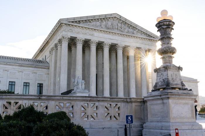 The Supreme Court is seen on Election Day, Tuesday, Nov. 3, 2020, in Washington.