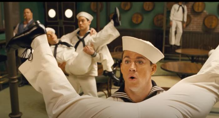 """Channing Tatum and chorus members from """"No Dames,"""" from the Coen Brothers film """"Hail Caesar"""""""