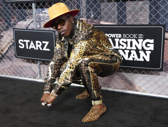 """DaBaby attends the world premiere of """"Power Book III: Raising Kanan"""" at the Hammerstein Ballroom on Thursday, July 15, 2021."""