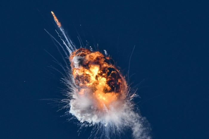 A rocket launched by Firefly Aerospace, the latest entrant in the New Space sector, is seen exploding minutes after lifting off from the central California coast on Thursday, Sept. 2, 2021.